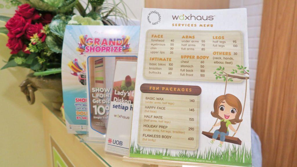 Price List Waxhaus