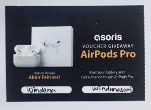 Asoris Giveaway